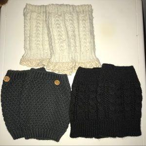 3 PAIRS Boot Cuffs